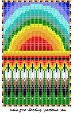 Rainbow - Native American  Feathers - Beadwork Loom