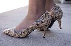658277bda9b3e0 What the Wroot Wore Wednesday  Snakeskin Pumps and Thrifted Scarf