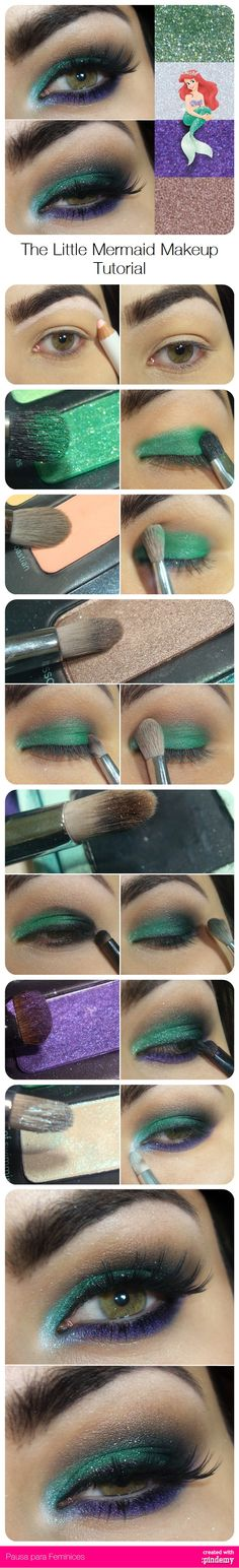 The Little Mermaid Makeup Tutorial via pindemy.com