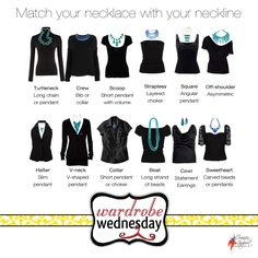 Match your necklace to your neckline {Wardrobe Wednesday: Where Fashion Meets Photography}