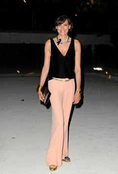 Ines de la Fressange Hogan by Karl Lagerfeld Ready to Wear Spring / Summer 2012 show and cocktail during Paris Fashion Week at Hotel Salomon...
