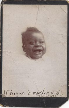 Family Tree Magazine's Photo Detective starts piecing together the clues in this old photo of an adorable, laughing baby—and in the mysterious captions written on the back of the image.