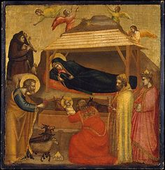 The Adoration of the Magi  Giotto di Bondone  (Italian, Florentine, 1266/76–1337)  ca. 1320, Tempera on wood, gold ground