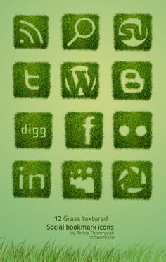 Social Media Icons to be used on my gardening blog?