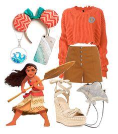 """Moana Disney Bound"" by vintage2modern ❤ liked on Polyvore featuring Unravel, Sonia Rykiel, La Preciosa, Betsey Johnson, Kendall + Kylie, Gray Malin, disney, disneybound and moana"