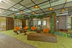 Eco-centric - Cyberport Smart-Space - Hong Kong Business Center Offices #Office #Health #Greenwall