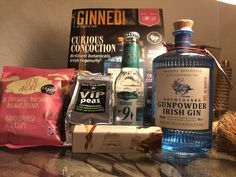 March's Gin from Craft Gin Club is Drumshanbo Gunpowder Gin 43% ABV. Distilled in Drumshanbo, county Leitrim, Ireland. As usual this months box has lots of extra goodies including a 200ml bottle of Peter Spanton No9 Cardamon Tonic, New York deli Wasabi peas 50g, Butler's milk chocolate Irish cream truffle bar 75g, Ten acres sweet & sour crisps 40g Plus the Ginned magazine