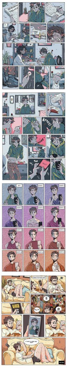 Transgender Meme, Trans Boys, Trans Art, Lgbt Memes, Def Not, Lgbt Love, Ftm, Cute Comics, Saga