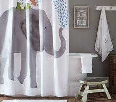 Elephant Shower Curtain | Pottery Barn Kids