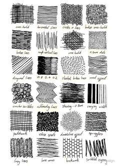 Texturas para dibujar diferentes cosas.