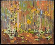 Tom Thomson, Woodland Interior, 1914 - Art Gallery of Ontario Canadian Painters, Canadian Artists, Abstract Landscape, Landscape Paintings, Modern Paintings, Emily Carr Paintings, Group Of Seven Art, Tom Thomson Paintings, Art Gallery Of Ontario