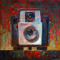 """Brownie Starlet Camera"" original fine art by Raymond Logan"
