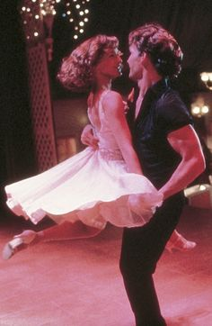 'Dirty Dancing' - Jennifer Grey, Patrick Swayze - 1987 - '50's dresses hairstyles.