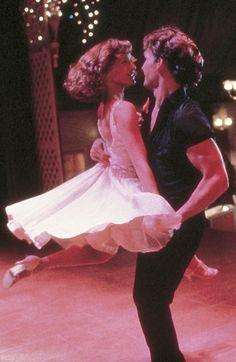 'Dirty Dancing' - Jennifer Grey, Patrick Swayze - 1987 - '50's dresses hairstyles.