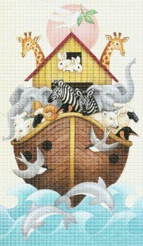 Art Needlepoint Noahs Ark Needlepoint Kit - $215