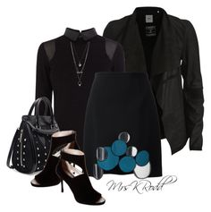 Peek-A-Boo Black by mrskrodd on Polyvore featuring Karen Millen, Object Collectors Item, Christopher Kane, DKNY, Alexander McQueen, Charlotte Russe, black, outfitonly and styleit