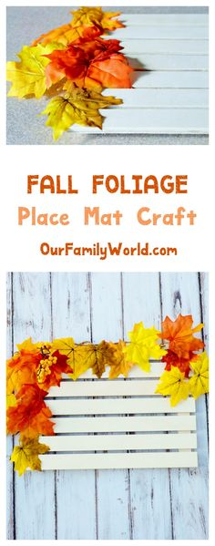 Get ready for another fabulous craft from our Autumn place setting series! Today we're showing you how to make a simple yet classy DIY fall place mat that will absolutely wow your guests!