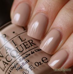 OPI Nail Polish Don't Pretzel My Button - would love a like, not very noticeable color like this while trying to grow my nails.
