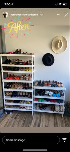 Wardrobe Organisation, Shoe Rack, Messages, Home, Shoe Racks, Ad Home, Homes, Text Posts
