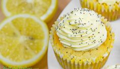 Low Carb Ketogenic Lemon Poppy Seed Cupcakes