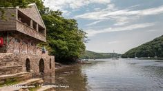The boat house at Greenway features as the scene of the crime in Agatha Christie's novel 'Dead Man's Folly'.
