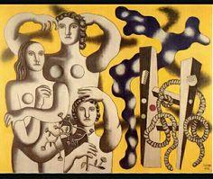 143. Fernand léger, composizione con tre figure 1932 m 1,82x2,32 tela Parigi m National d'Art Moderne