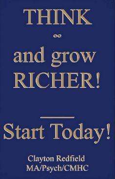 Motivation für Unternehmer: Think and Grow Richer! Heute anfangen! (Nehmen Sie die Verhaltensänderung You Desire) Psych, Think And Grow Rich, Calm, Motivation, Books, Entrepreneur, Things To Do, Libros, Book