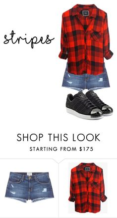 """Untitled #2"" by adina2003 on Polyvore featuring beauty, Current/Elliott, Rails and adidas Originals"
