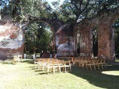 Old Sheldon Church Ruins  Ceremony by Southern Graces Catering & Event Design, Beaufort, SC