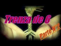 Six Strand Round Braid / Part 2 (Final) Leather Lace Bracelet, Leather And Lace, Romanian Lace, Point Lace, Macrame, Knots, Youtube, Braids, 1