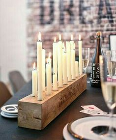 Rustic Candle Holder, Candlesticks , Wood Candle Holder , Center Piece – Sheena dream home – Kerzen Rustic Candles, Rustic Candle Holders, Diy Candlestick Holders, Candleholders, Farmhouse Candles, Diy Candlesticks, Diy Candle Holders Wedding, Long Candle Holder, Driftwood Candle Holders