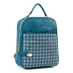 Korean Japan Style Check Backpack