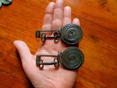 Bronze Spring-loaded Spiral Brooches Central Europe circa 800 BC