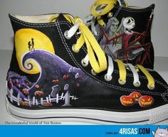 Nightmare Before Christmas Converse! ♥ I know these are Osiris shoes but I love them Nightmare Before Christmas Converse Converse All Star, Converse Shoes, Cheap Converse, Purple Converse, Golf Shoes, Adidas Shoes, Adidas Men, Cute Shoes, Me Too Shoes