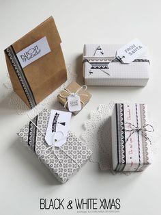 Black & white Christmas wrap ♥