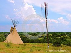 This giant tipi and arrow overlook the Palo Duro State Park. The large canyon was a place of the native Indians.