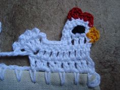 AS RECEITAS DE CROCHÊ: Barrinha de galinhas em crochê