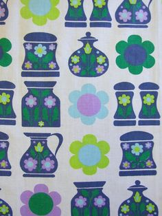 60s Kitchen Fabric  available from Rainbow Vintage Home