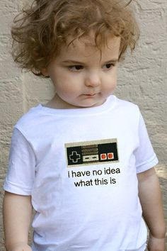 Too Young for Nintendo    Embroidered Nintendo Shirt  by OKsmalls, $20.00