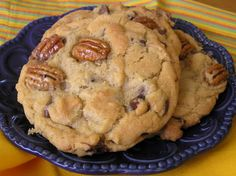 Candied pecan chocolate chip cookies