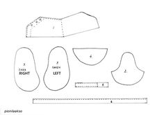 Baby Shoes Template