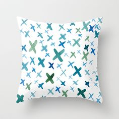 Painted X Throw Pillow- Rose Thomas