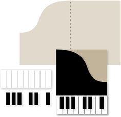Silhouette Online Store - View Design #24811: piano card