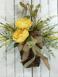 Hey, I found this really awesome Etsy listing at https://www.etsy.com/listing/224925706/spring-flower-wreath-bunny-door-basket
