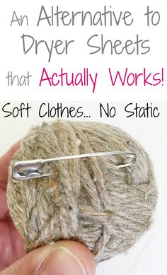 I cannot believe there's actually a dryer sheet alternative that softens and eliminates static!