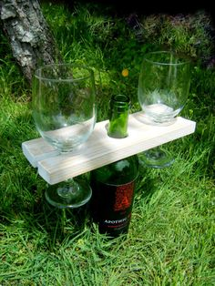 Reclaimed Wood Wine Bottle Holder Wine Bottle by UrbanOakGoods, $12.99