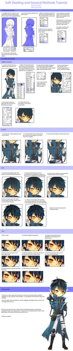 Soft Shading Tutorial via Paint Tool SAI by Lorii-chan.deviantart.com on @deviantART