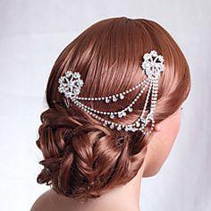 bodas de prata pente de cabelo liga para a noiva (1pc)