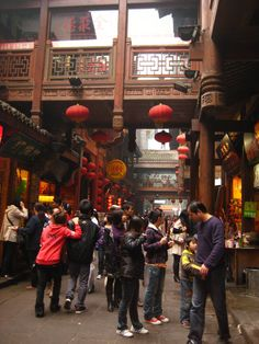 One of the cute shop/tourist areas in Chongqing.     credit: Clare Eisenberg