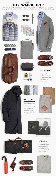 The Work Trip Wardrobe. Build A Perfect Capsule Wardrobe. #MensFashionWork